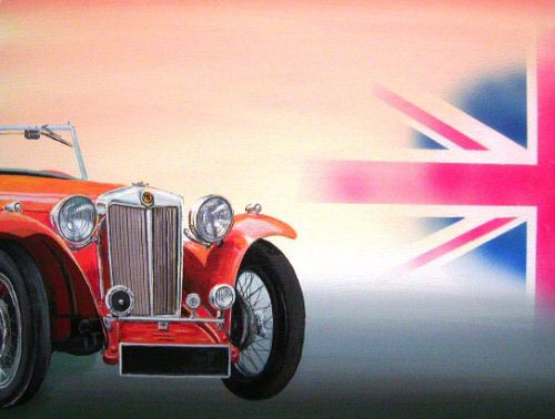 MG & British Flag