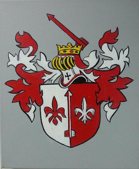 Coat of arms painted on canvas