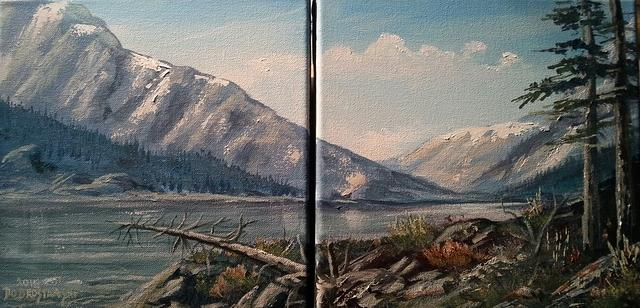 Jasper Lake Diptych (each) 12 x 12