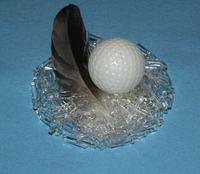 """Birdy"" Acrylic Nest with Golf Ball Egg"