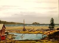 Rafting on Gillies Bay Creek 16 x 20